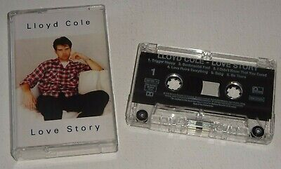 LLOYD COLE LOVE STORY 1995 FONTANA Chrome CASSETTE - tested w/lyric insert