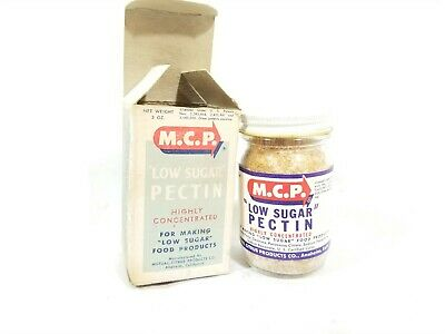 Vintage 1956 M.C.P. Low Sugar Pectin Box Glass Jar- New Old Stock