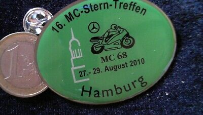 16. MC-STERN-TREFFEN Pin Badge Hamburg 2010 Mercedes Benz Logo