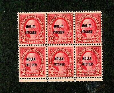 US Scott # 646 - MNH - Block of 6 Stamps - Nice Stamps