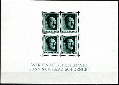 Germany 1937 Hitler's Birthday Sheet - Perf - Mint Never Hinged**