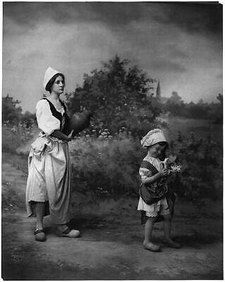 Photo:Woman,girl in dutch costumes,Netherlands,c1902,Fitz Guerin