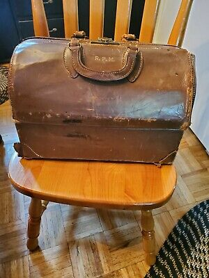 Antique Md Doctor Medical Bag Emdee By Schell Pat # 2293363