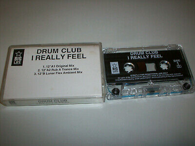 DRUM CLUB - I REALLY FEEL - Promo 3 track remix cassette