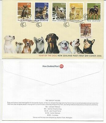 New Zealand 2006 Year Of The Dog Fdc