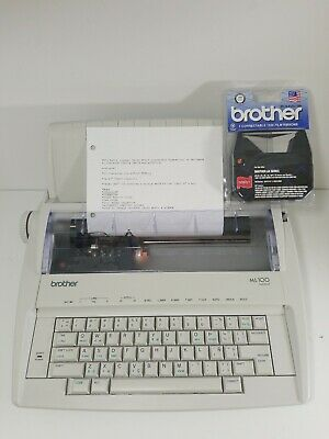 Brother ML100 Portable Electronic Typewriter Keyboard Cover Ink Daisy Wheel Good