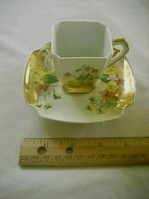Vintage Arzberg Bavaria Germany Demitasse Cup & Saucer Hand Painted Flowers
