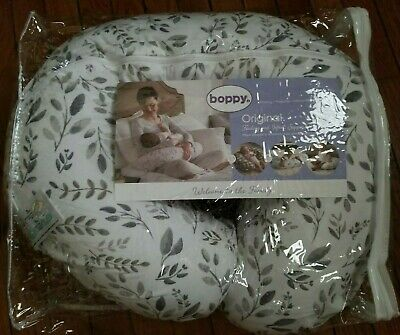 Boppy Nursing Pillow and Positioner - White and grey design