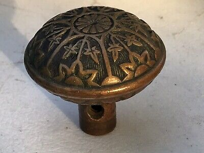 Antique Eastlake Victorian Solid Brass Door knob original nice patina