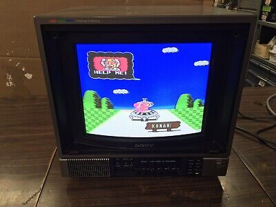 "Sony PVM-1271Q Trinitron 12"" Vintage CRT Gaming Monitor 1985 Production Year"