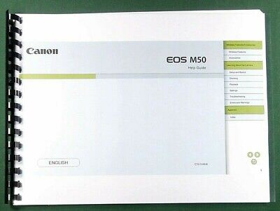 Canon EOS M50 Help Guide: 96 Pages & Protective Covers