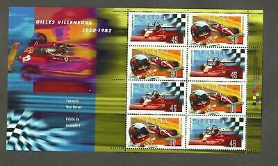 Canada Gilles Villeneuve Memorial Souvenir Sheet - Scott# 1648b - Mint, NH