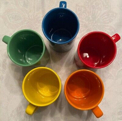 M&M's Candy 5 COLOR! Coffee Tea Mug Cup Advertising Collectable 2011 EUC 12 Oz.