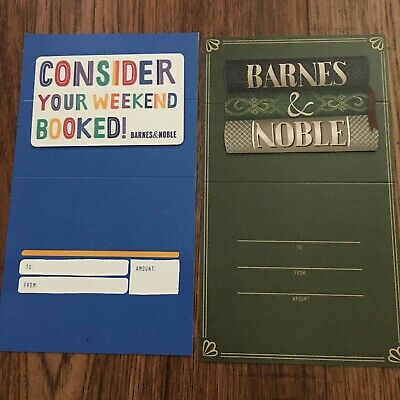 Barnes & Noble Collectible Gift Cards Lot of (2) New No Value