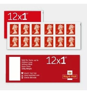 24 x 1st Class Standard Self Adhesive Postage Stamps 2 Books