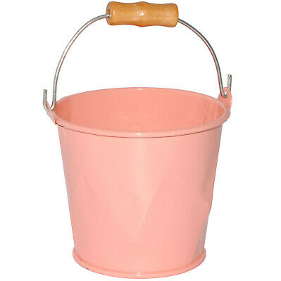 """Small Mini - Metal Bucket - """" Pink/Pink """" - 8 CM High - 220 ML - With 3-D"""