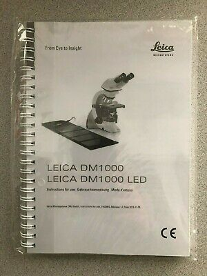 Leica  DM000 LED  Compound Microscope Instruction Operating Manual