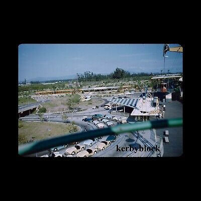 4 Vintage 1950s Kodachrome Photo Slides Disneyland Skyway Scenes 1958 California