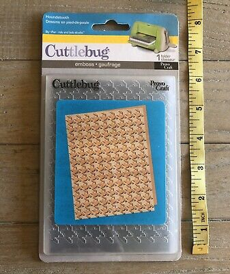 Cuttlebug Embossing Folder ~ HOUNDSTOOTH ~ Brand New!!