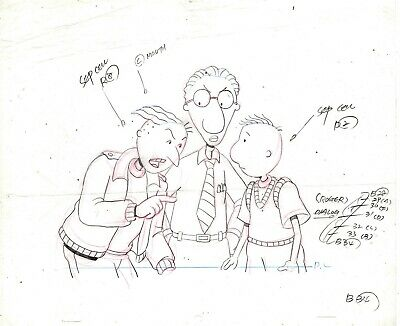 Disney's DOUG TV Series Original Animation Production Drawing / Disney 1991