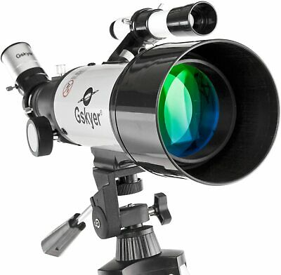 Gskyer Astronomical Refracting Telescope - 70mm Aperture 400mm AZ Mount - Travel