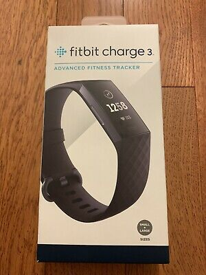 Brand New Fitbit Charge 3 Activity Tracker - Black/Graphite Aluminum(Never open)