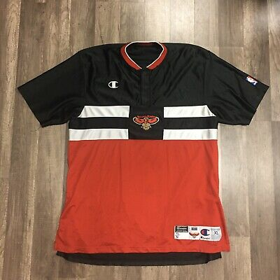 Vtg Champion Atlanta Hawks Authentic Warm Up Jersey Shirt Sz Xl Game Used Worn