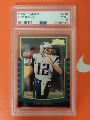 Tom Brady 2000 Bowman #236 Rc Rookie Card New England Patriots Sp Psa 9 Mint
