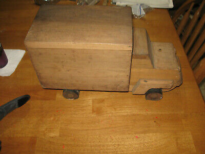 Large Wooden Truck, Hand-made, 1960's, High school Project, Stamped