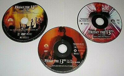 """Friday the 13th """"Parts 6,7,8"""" (3 DVD Lot) 80s Cult Slasher HORROR Jason Voorhees"""