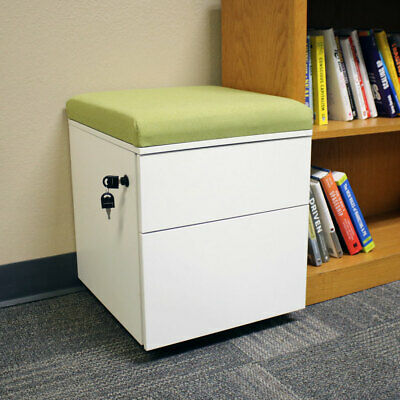 Rolling 2-Drawer Wheeled Storage Cabinet - Green Cushion by CASL Brands
