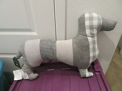 Telluride Dachshund Sausage Dog Shaped Decorative Pillow NWT