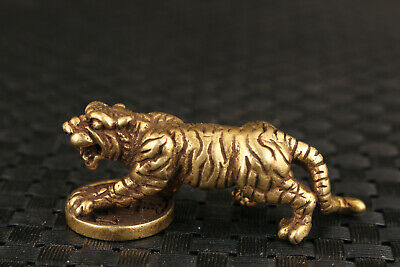 Fortune Art chinese old bronze hand casting tiger statue figure collectable