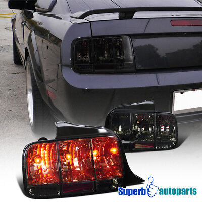 For 2005-2009 Ford Mustang Tail Lights Sequential Signal Lamp Smoke