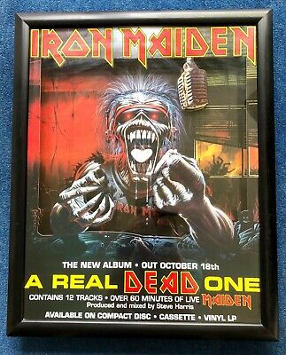 Iron Maiden A Real Dead One 1993 Promo 3D Card Framed Rare