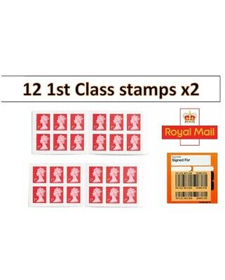 24 x 1st Class Standard Self Adhesive Postage Stamps (2 Books of 12)