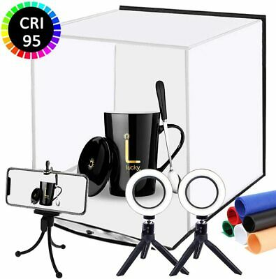DUCLUS Foldable Photo Studio Box kit, Portable Photography Light Box with Dual