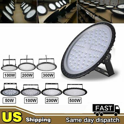 50W 100W 200W LED High Bay Light Warehouse Factory Shop Lighting Commercial Lamp