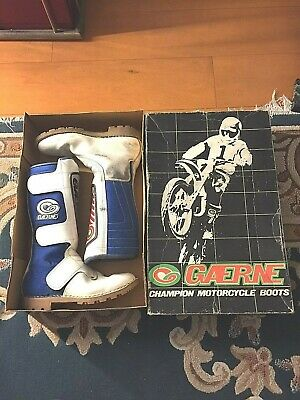 GAERNE STIVALI CROSS in box  VINTAGE tg 44 motorcycle leather boots