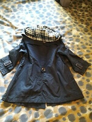 Lovely  Trendy Stylish Black Trench Jacket From Zara Kids  In Great Condition