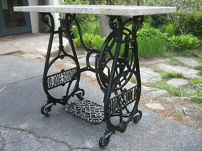 Vintage ORNATE 1800s Household Sewing Machine Base Antique Cast Iron Table