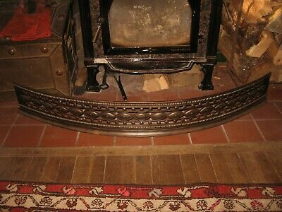 "Vintage Iron Victorian Style 48"" Wide Fireplace Fender X 6 1/8"" Tall"