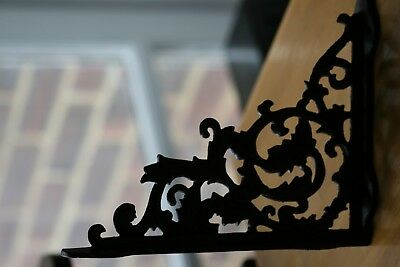 Vintage Cast Iron Decorative Ornate Shelf Brackets - Price for Two