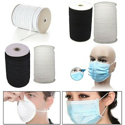 Round Flat Elastic Face Masks Cord String Stretchable Cord Dress Making Craft