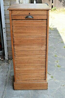 Vintage, Single Tambour,Filing Cabinet,industrial,Roller shutter door