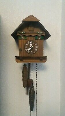 West German regula cuckoo clock animated chalet style cuckoo clock