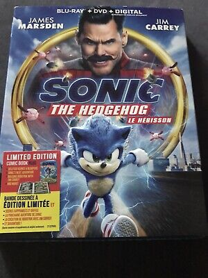 Sonic The Hedgehog Blu Ray Dvd Digital New And Sealed With Slip