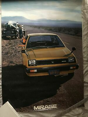 Rare and Cool Vintage MITSUBISHI MIRAGE California POSTER 40 by 26