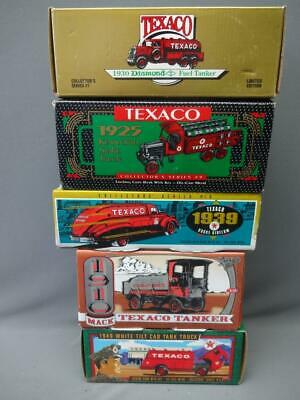 Texaco Ertl Bank Lot Of 5 Series #7, 9, 10, 12, 13 Diamond Kenworth Doodle Mack