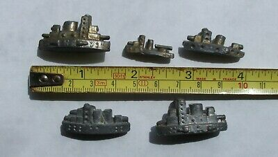 Vintage Lead Battleships - Job Lot of 5